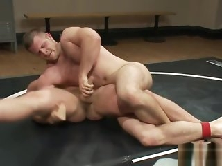 blowjob Robust jock wrestles prevent a rough out before analsex bdsm