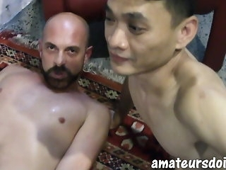 amateur AmateursDoIt - Young Asian fucked bareback away from daddy's horseshit twink
