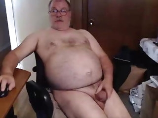 big cock Dad cums on conceited cam amateur