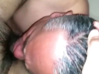 big cock Age-old haired paterfamilias sucking his friend's cock amateur