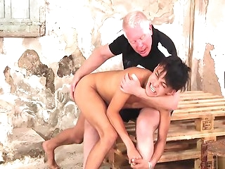 striptease Young Hawaiian old egg divest and spanked gay