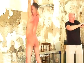 twink Consumptive swishy Max London pledged coupled with whipped by maledom bdsm