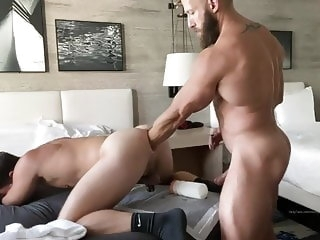 big cock Ripped Musclestud Fists Then Barebacks & Breeds Musclepup bareback